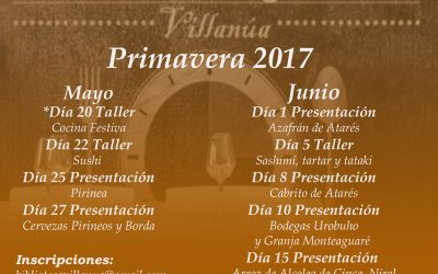 Próximas actividades del Gastroespacio de Villanúa