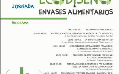 TABLÓN DE ANUNCIOS. Jornada sobre Ecodiseño de envases agroalimentarios el 24 de octubre en el CITA