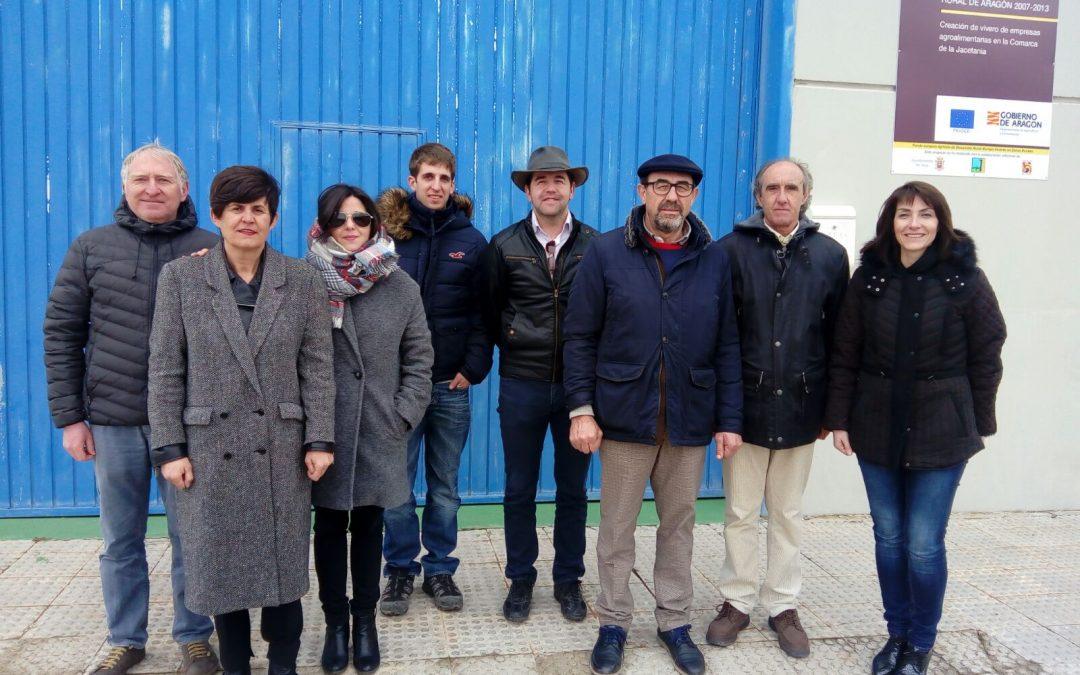 La Comarca Comunidad de Teruel y el Grupo Leader Adricte se interesan por el modelo de los viveros agroalimentarios de Adecuara