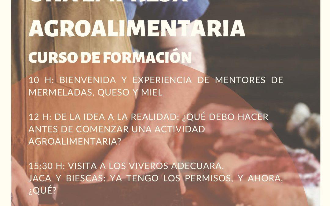 Formación mentorizada en el sector agroalimentario, el 15 de noviembre en Jaca